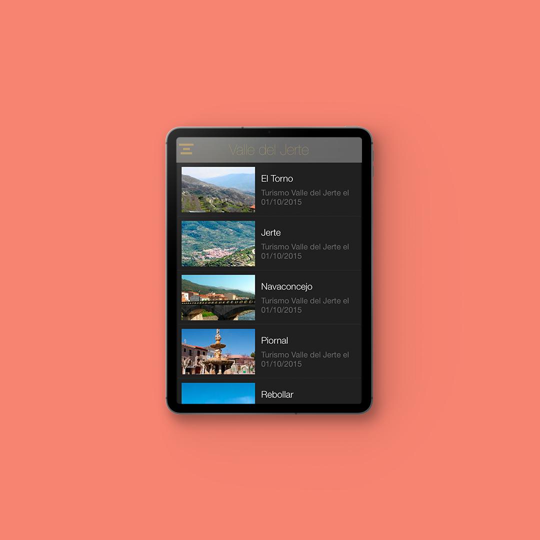 ejemplo de app de turismo para el valle del jerte
