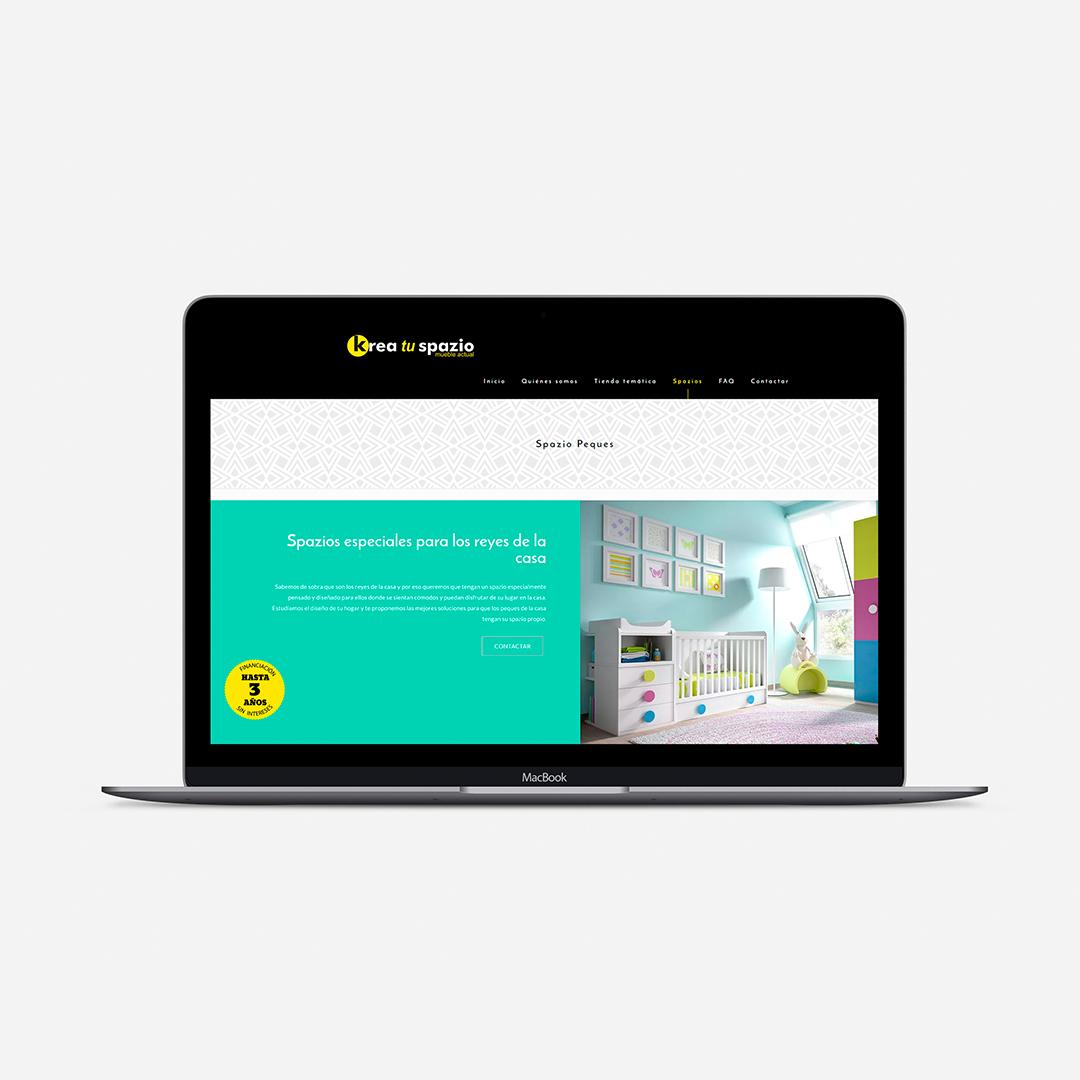 ejemplo página web tienda de muebles moderna