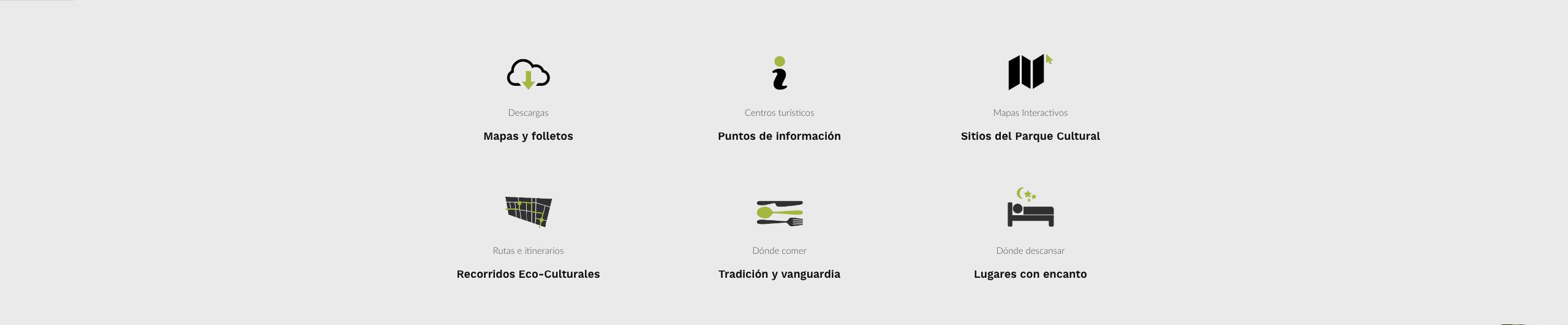 ejemplo de iconografia para web sierra de gata